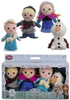 free shipping, Frozen Anna Elsa Kristoff Olaf Kids Role Play Plush Finger Puppet Set of Four Stuffed Toys Doll Toys 10cm
