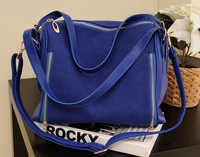 2014 new retro matte shoulder bag handbag diagonal package,black ,blue,pink 3055