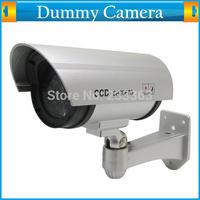 Flashing Light Waterproof Decoy Dummy Security Wireless Camera Fake Infrared LED Surveillance Bullet Surveillance CCTV Cam