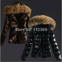 Black Brown Brand Ladies Down Coat Fashion Duck Down Jacket Women Down Parka Fur Collar Hood Warm Lady Winter Jacket Coat Women