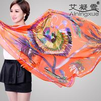 2014 new silk chiffon scarf scarves women scarf brand scarves big square