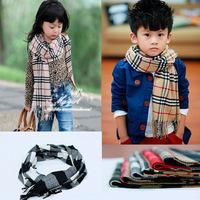 2014 Newest warm Cotton scarves & wraps for Children Famous brand plaid grid design Fashion winter scarf for boy & girl