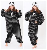 Hot! Novelty Cosplay Anime Jack Skellington Skeleton Designer Costume Adult Unisex Party Christmas Pajamas Plus Size S- XL