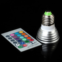 3W/4W E27 RGB LED Bulb 16 Color Change Lamp spotlight 110v 220v 230v for Home Party decoration with IR Remote