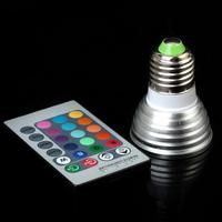 3W/4W E27 RGB LED Bulb 16 Color Change Lamp spotlight 110v 220v 230v for Home Party decoration with IR Remote
