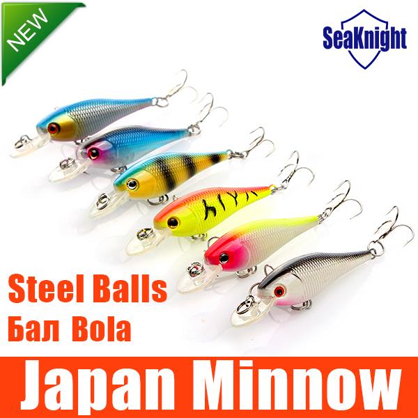 SeaKnight Hard ARTIFICIAL LURES MINNOW FISHING LURES Set Japan Steel Balls 4.5g/6.5CM 6Pcs Blade Fish Bait Cheap Tackle NEW 2015(China (Mainland))