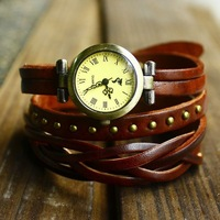 Free shipping hot sale new fashion wristwatch genuine leather watches for women watches vintage relogio