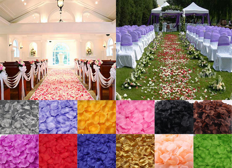 500pcs Silk Rose Artificial Flowers Petals Leaves Wedding Table Decorations Flowers Scrapbooking Event Party Supplies Wreaths(China (Mainland))
