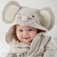 Cartoon Baby bathing wraps shower towel newborn sleeping robe covers free shipping