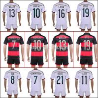 high quality 4 star Germany kits jersey 2014 world cup germany Home Away soccer jerseys SCHWEINSTEIGER's jersey Gotze Ozil set
