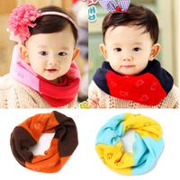 SC-1026 free shipping 2014 print star Acrylic girls and boys scarves ring fashion children winter scarf shawl