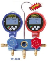 Digital 4 value refrigeration dual pressure, Refrigerant gauge check test air conditioning and fluoride,pressure gauges