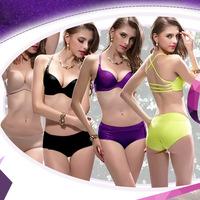 Breathable gather deep V a formula America back yards Sexy Seamless Bra Bikini Body antimicrobial absorbent underwear