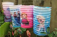 Frozen lantern christmas decoration birthday decoration lantern eco-friendly paper lanterns 12 pcs whole sell