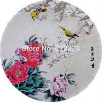 Hot selling chinese flowers painting oiled paper umbrella technology handmade cosplay ,dance,sun shade ,waterproof gift umbrella