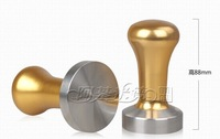 Free ship 58mm Coffee tamper golden handle Stainless steel coffee tamper
