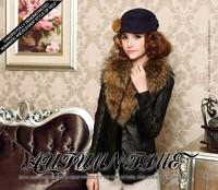 2014 raccoon fur sheepskin vest genuine leather clothing short design female mink hair vest outerwear