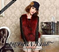 2014 fur raccoon fur vest female fur coat vest short design