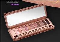 Free Shipping ! Make up naked basic 12 Colors Palette naked 3 Eye shadow Palettes with brush