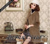 2014 fur rabbit fur coat fox fur three quarter sleeve medium-long full leather rabbit fur female outerwear