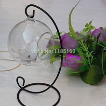 Romantic Wedding Dinner Decor Crystal Glass Hanging Candle Holder Candlestick 2Pcs/Lot wzLR2(China (Mainland))