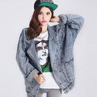 2014 new European style Retro denim jacket women
