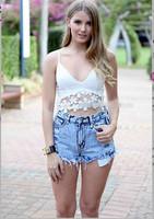 Women Bustier Crop Top White Camis Blusas Femininas Fitness Cropped Tank Tops blusa colete feminino regatas Sexy Lace Camisoles