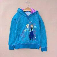 frozen hoodies children's elsa and Anna hoodies jacket  Frozen Autumn fleece girls princess outwear