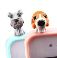 wholesale 200pcs New Arrival Dog 3.5mm Anti Dust Earphone Jack Plug Stopper Cap For iphone Free Shipping