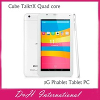 "Cube  Talk7X Quad core 7"" 5-point Capacitive IPS Touch, Android 4.2.2 MTK8382 1.3GHz 7 Inch 3G Phablet Tablet PC Free shipping"