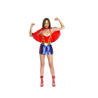 Supergirl Costume Woman Holiday Costume Unisex Party Costume Super Girl Halloween Costume