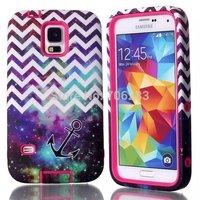 Starry sky design Heavy Duty Hybrid Case for Samsung Galaxy S5 G900 I9600 anchor Design Hard Shell +Freeshipping