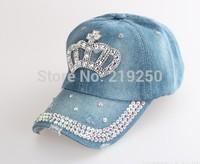 Fall 2014 fashion women letters diamond cowboy baseball cap free postage