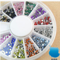 5pcs/lot 1.5mm 12 colors Round Acrylic Rhinestone for Nails 3D Nail Art Decorations Rhinestones Nail Tips (40000pcs)
