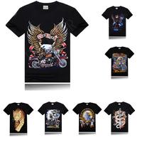 2014 NEW 3D graphic tshirts Men's Top Brand  Pocket T shirts Mens Casual Stylish Short Sleeve Cotton T-Shirts M--XXXL Boss