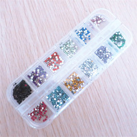 5pcs/lot 2.0mm 12 colors Round Acrylic Rhinestone for Nails 3D Nail Art Decorations Rhinestones Nail Tips Dropshipping