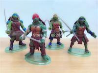 2014 Newest version 4pcs/lot the Teenage Mutant Ninja Turtles action figure TMNT Action & Toys Figures
