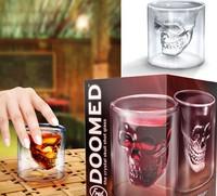 Hot Sale Doomed Crystal Skull Shot Glass/Crystal Skull Head Vodka Shot Wine Glass Novelty Cup (2.5 ounces)