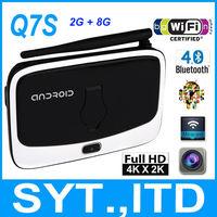 5pcs/lot Android 4.4 TV Box Q7S CS918s RK3188 Quad Core 2G/8G With 2.0MP Webcam MIC WiFi DLNA Miracast XBMC Media Player