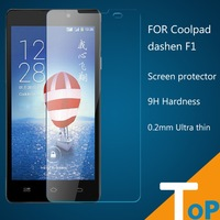 10pcs Coolpad dashen F1 9H Hardness  toughened Ultra thin Slim Real Tempered Arc edge design Glass Screen Guard Cover