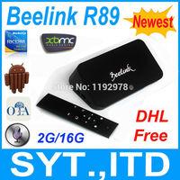 Newest Android 4.4 TV Box Beelink R89 RK3288 Quad Core Smart TV Box 2GB 16GB Mali-T764 GPU Built-in MIC BT 4.0 XBMC TV Receiver