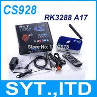 In Stock 5pcs CS928 Android 4.4 TV Box RK3288 A17 Quad Core Smart TV Mini PC 2GB 16GB 2.4/5.0GHz WiFi 5.0MP Webcam 4K HD XBMC