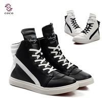 New Fashion Design men Autumn winter boots men Fashion sneakers Lace high shoes for men Casual shoes Outdoor shoes flat shoes