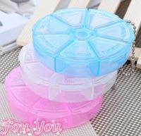 Hot Sale Travel Portable Pill Case Storage Box Plastic Medicine Box Jewel Case Free Shipping