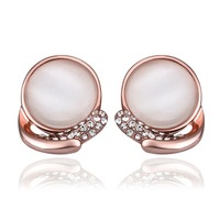 Top Quality 18k gold plated austrian crystal rhinestone Opal Stone earrings fashion jewelry  18KRGPE889