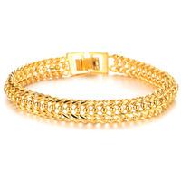 Classic Vintage Never Fade 18K Yellow gold plated women / man bracelet & bangle Trendy Chunky Chain & Link Bracelet