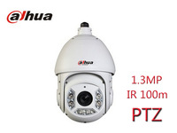 Free Shipping Full New Dahua PTZ 1.3MP camera network camera IR 100m speed dome for indoor and outdoor security cameras IP66