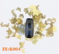 1000pcs Gold Nail Art Metal Sticker Decoration Acrylic Tips Metal Slice Wheel Tiny Mixed Design-Kechong#11