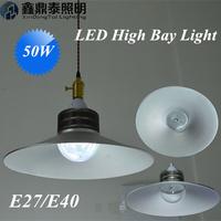 10 pcs/lot 50W  High Bay LED Bulb E27 E40 Lamp 85-265V 5000lm SMD LED workshop supermarket warehouse lamp LED High Bay Light