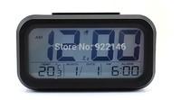 New LED Digital LCD Alarm Clock Calendar Thermometer Display Mini Desktop Clock Snooze Large Screen